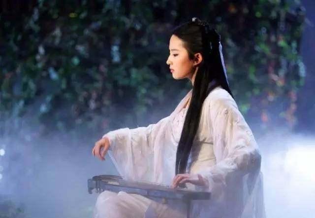 古装剧中十位抚琴美女明星,赵丽颖造型最仙