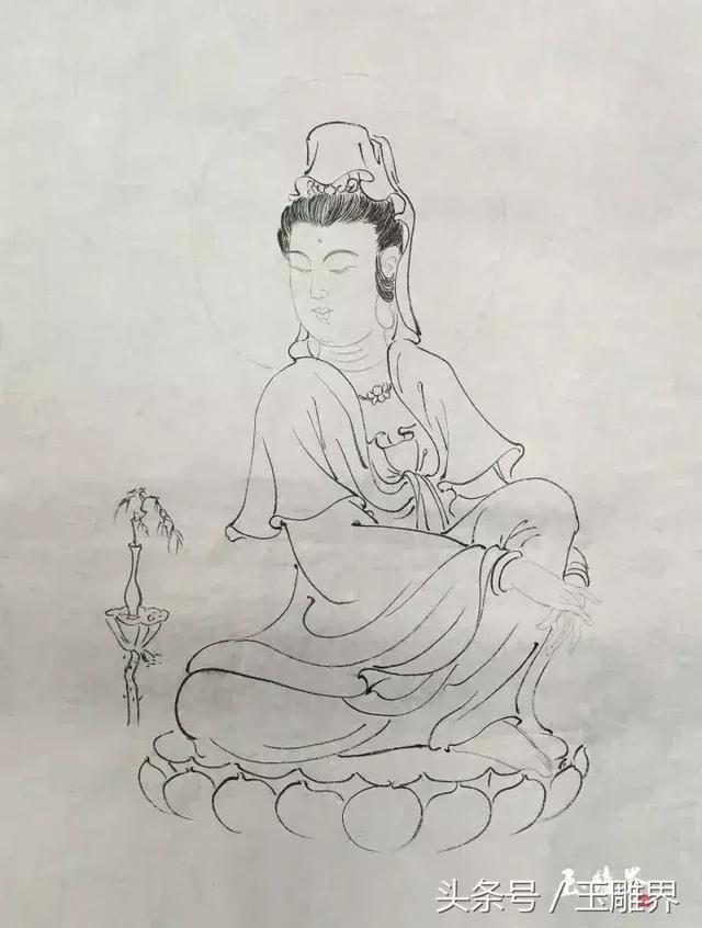 玉雕刻图案手稿图