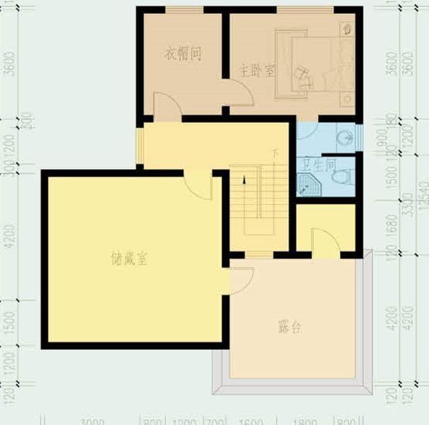 20万带庭院的农村房屋设计图,5套方案,2款带火炕含预算图片