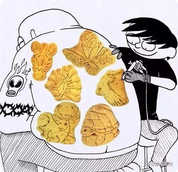 """创意来自生活,插画家""""玩坏""""面包了"""