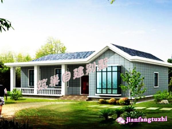 10万左右15x10米一层农村别墅设计图全套cad图纸-北京图片