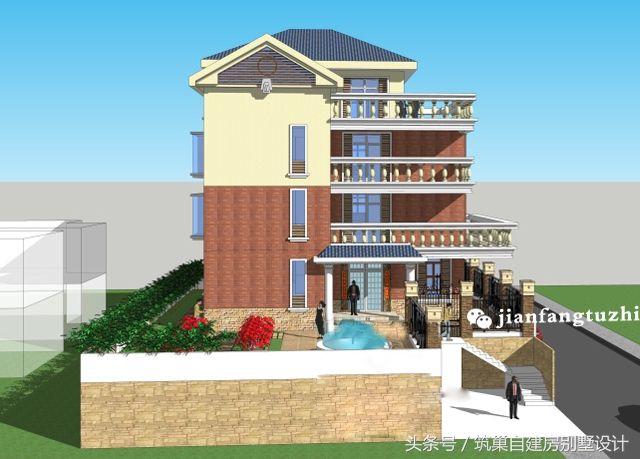 三层半简欧式车库图纸设计四层地下图纸室外楼别墅加工轴图片
