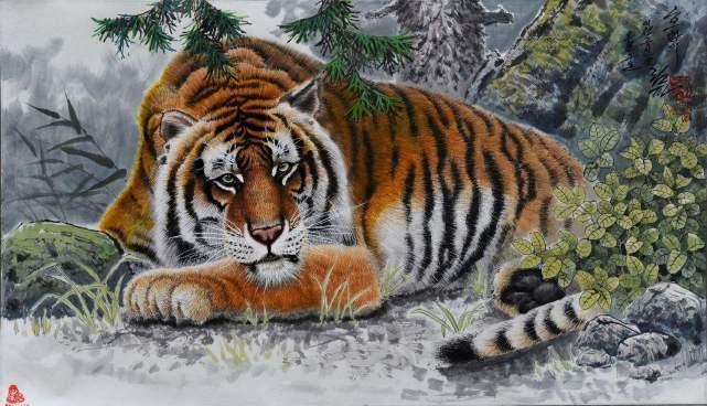 你是不是虎_你注意到了吗:朝鲜画家笔下的老虎,都是神情忧伤,一如它们生存过的那