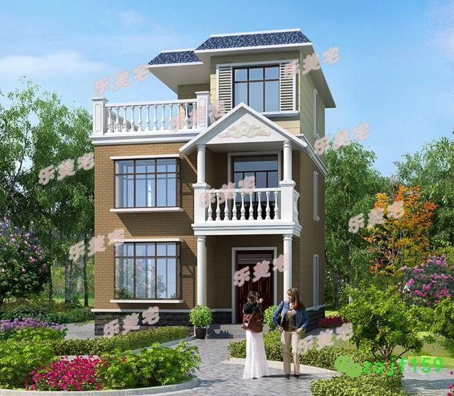 開間8.5米農村三層自建房設計圖,小戶型推薦