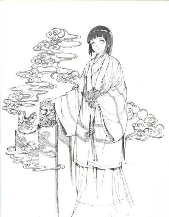 雏田小时候简笔画