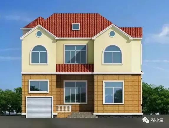 11mx13m欧式乡村自建房,有阳台有车库,还有自己的田园