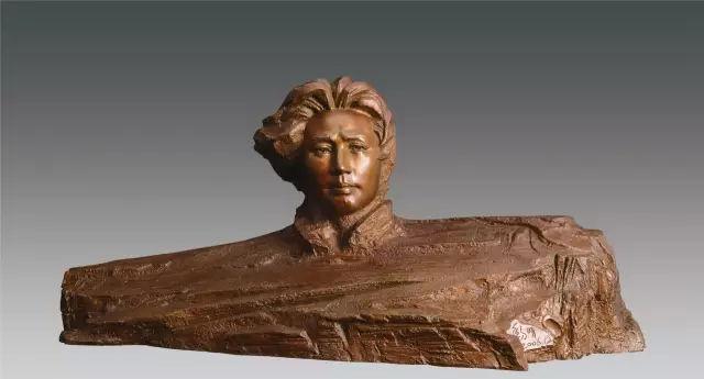 《青年毛泽东》著名雕塑家黎明作品 高57cm