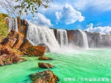 壁纸 风景 旅游 瀑布 山水 桌面 374_281