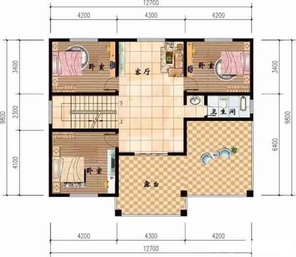 7x8米小别墅设计图