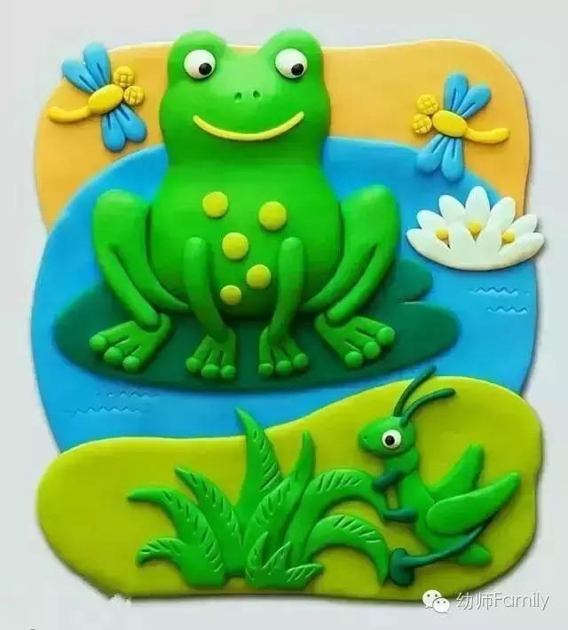 彩泥青蛙制作步骤图