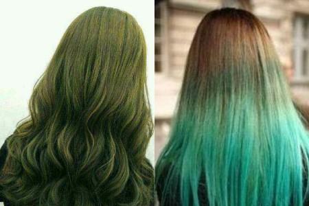 其中齐刘海的梨花头是很合适染这样一个发色的,头发够长是一个优势,发