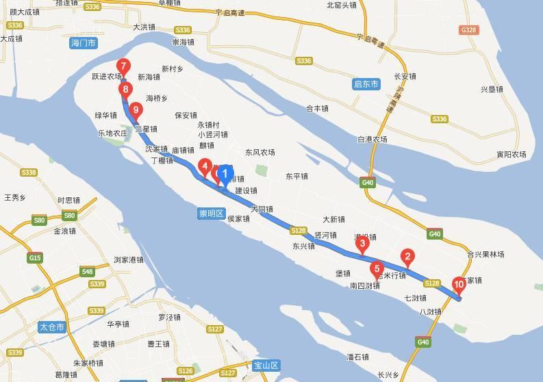 它是崇明岛内主要的交通要道, 连接长江隧桥, 贯穿崇明县东西两端