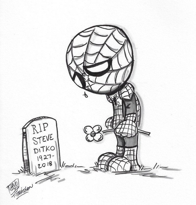 纪念蜘蛛侠和奇异博士之父漫威传奇漫画家steve ditko