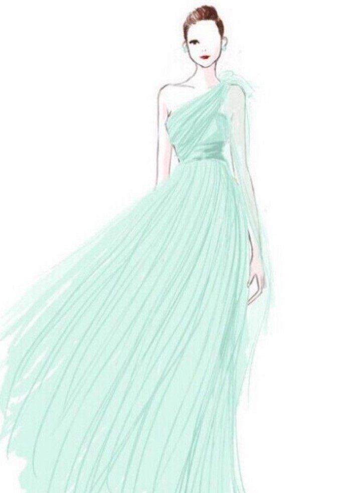十二星座的专属手绘公主裙,云想衣裳花想容