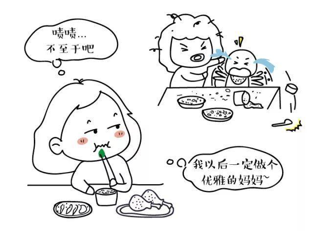 吃饭小朋友简笔画