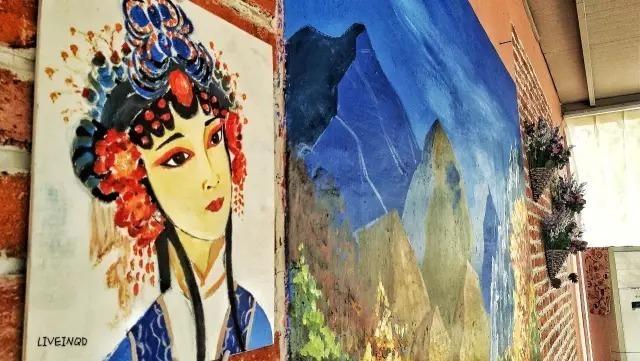 墙体彩绘手绘墙美女