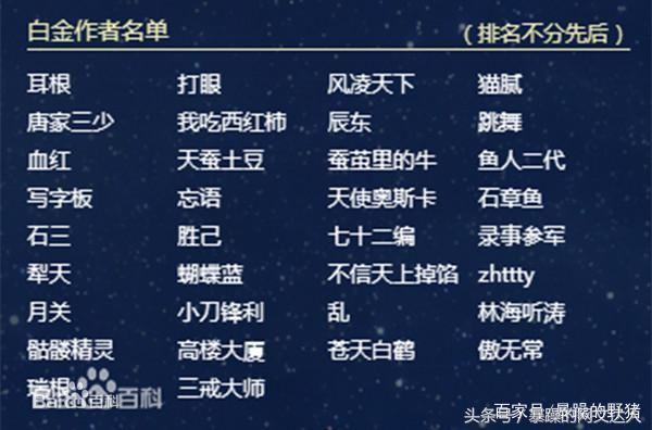 起点白金作家是起点中文网的标志,起点于2006年正式推出