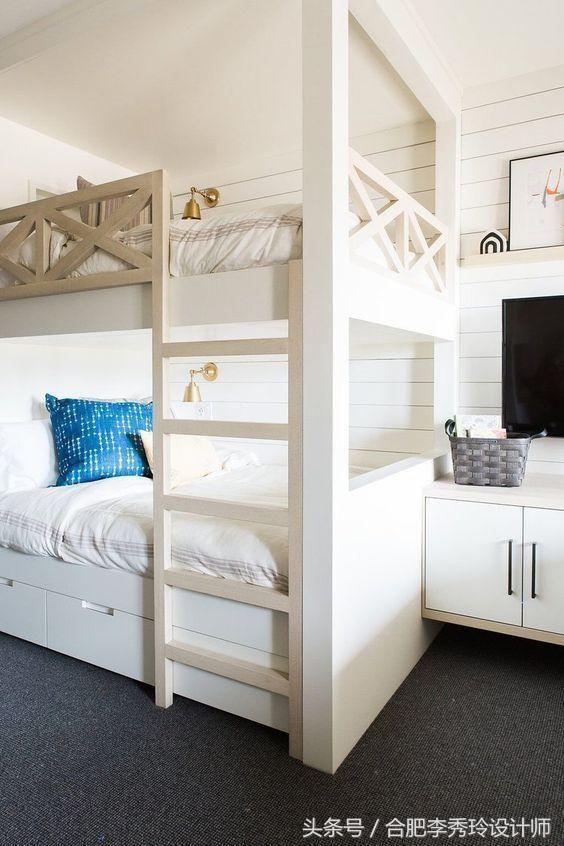 小房间放两张床的4种方法,省空间又宽敞,好处太多,值得借鉴图片