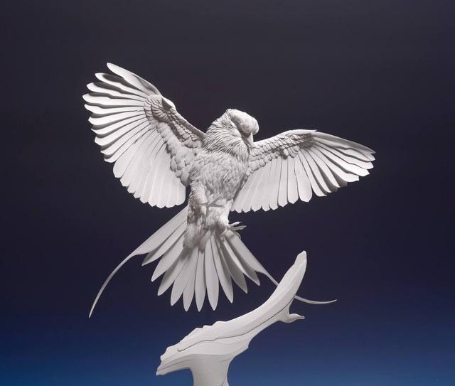 令你大开眼界的纸制动物浮雕作品