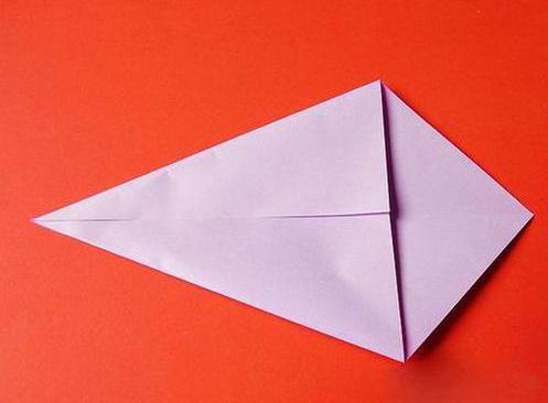 立体天鹅的折法图解步骤三