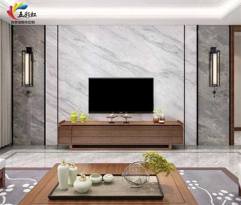 2,現代簡約輕奢風格客廳電視背景墻裝修效果圖