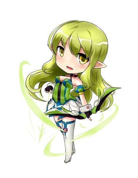 看起来特别特别漂亮,像个美少女战士,还有一双长长的耳朵,很萌很可爱