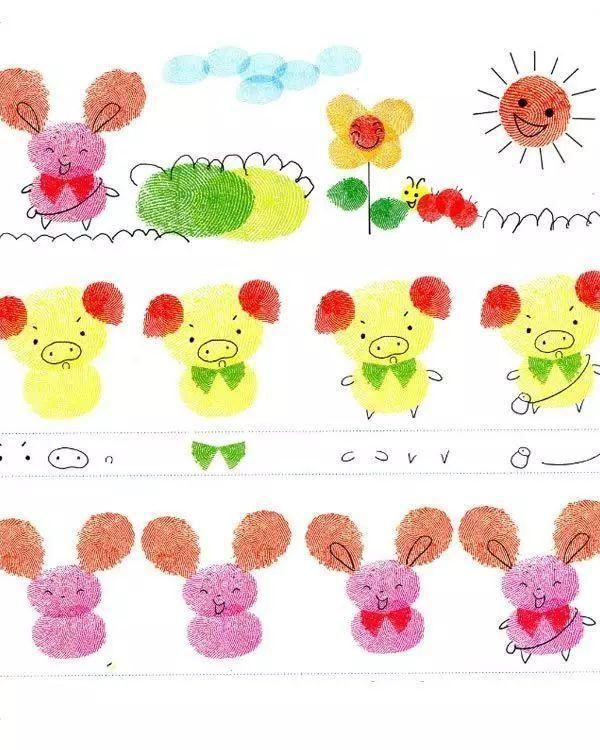 幼儿园指纹画作品_幼儿园优秀作品_画画大全