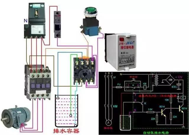 电工收藏:断路器,电动机详细接线图解