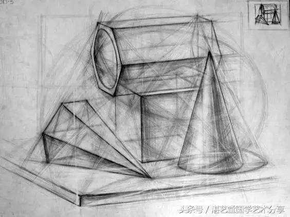 最全素描教程--几何体结构展示