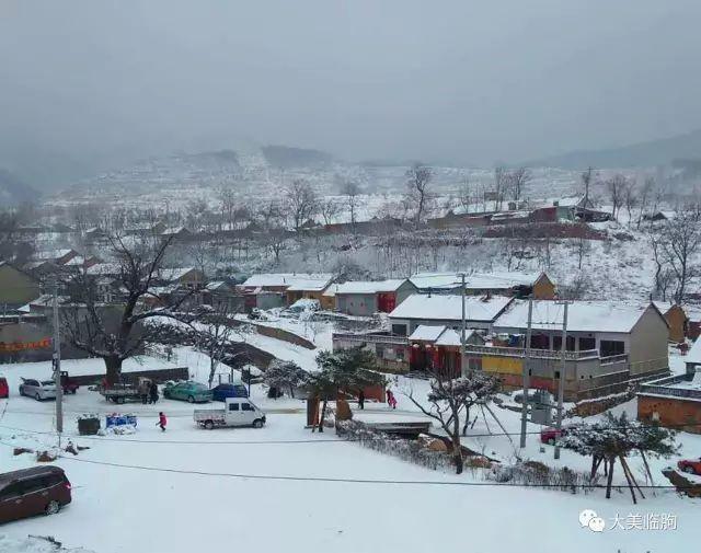 (雪后沂山风景区管委会刘家板峪村 )