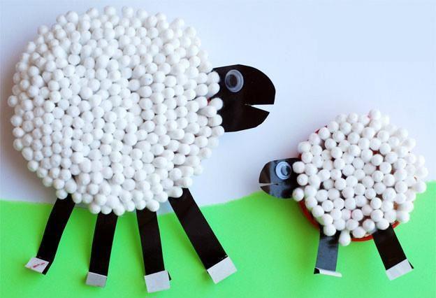 幼儿园绵羊手工大全:十几种材料不同玩法,将羊咩咩玩出新创意!