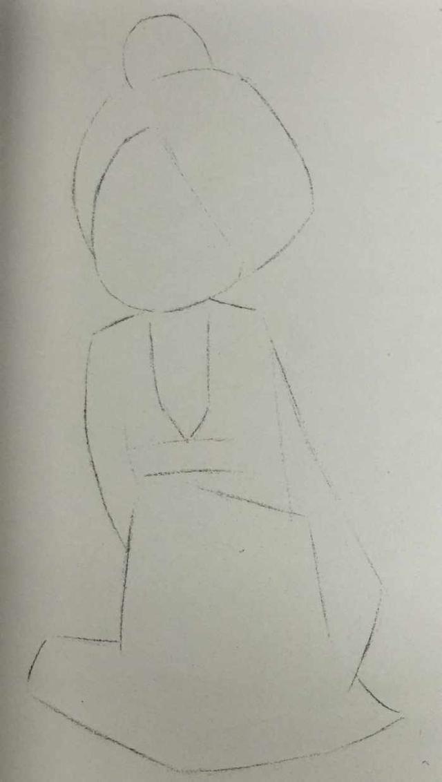 明代袄裙彩铅手绘q版娃娃 简单步骤教程图片