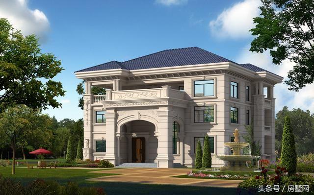 别墅设计:一套精美的欧式风格,三层样式占地120平,漂亮至极!