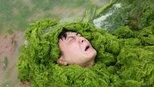 游人青岛戏浒苔,海上大草原真壮观!小朋友玩嗨了乐得忘乎所以
