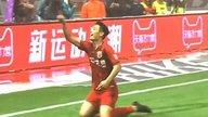 中超-武磊破门创纪录 上港2-1人和提前一轮中超捧杯