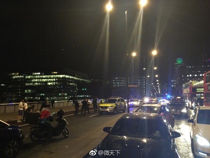 英伦敦发生汽车冲撞行人事件 造成至少1人死亡