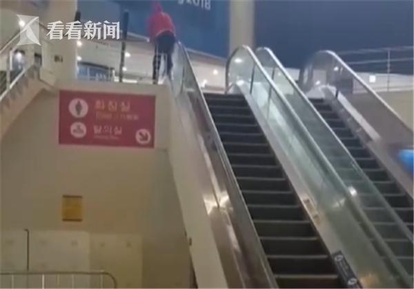 平昌冬奥会运动员挂扶梯上楼 惊险又滑稽! - 周公乐 - xinhua8848 的博客