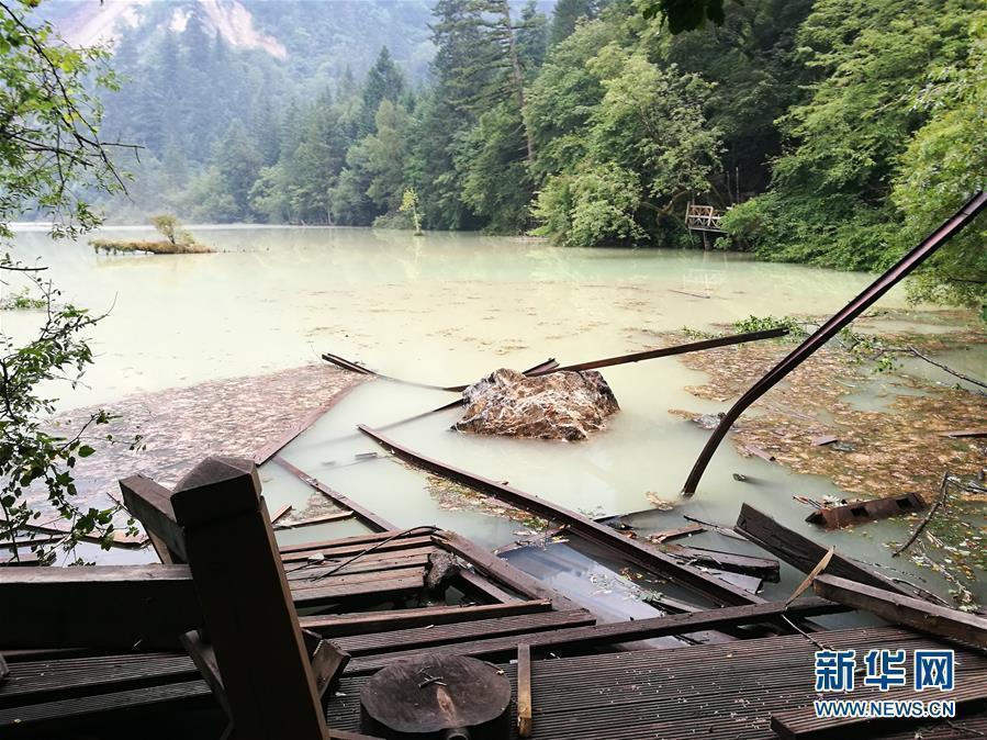 九寨沟震后昔日美景不再:水质变浑山体受损 - haozjq - 我的博客