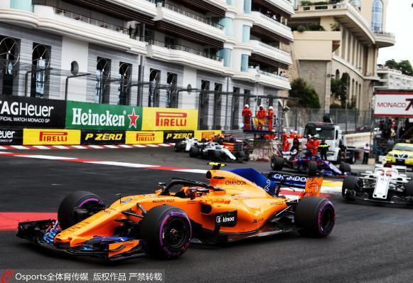 F1:里卡多摩纳哥站夺冠 阿隆索赛季首次退赛