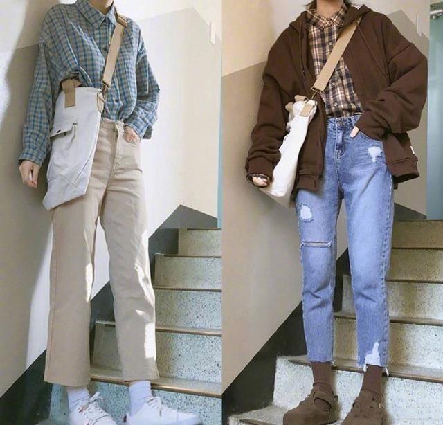 学生范儿十足的中筒袜+小皮鞋搭配,轻松穿出青