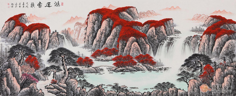 挂中国特色山水画 - 桃源居主 - 桃源居主