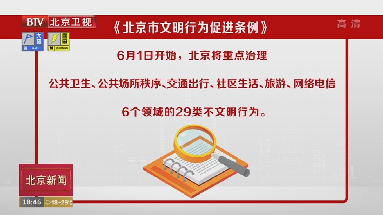 北京:29项不文明行为2020年6月起依法治理