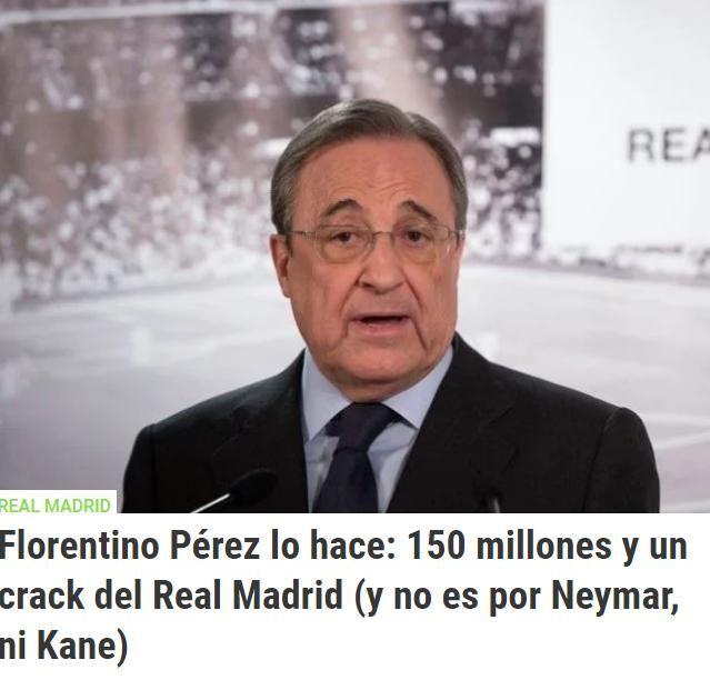 皇马计划用1.5亿再加一名球员,换取一名球星,不是内马尔