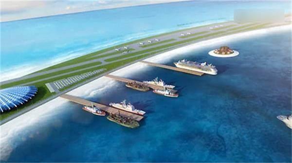 南海美济岛吹沙填海已经有了雏形, 堪比夏威