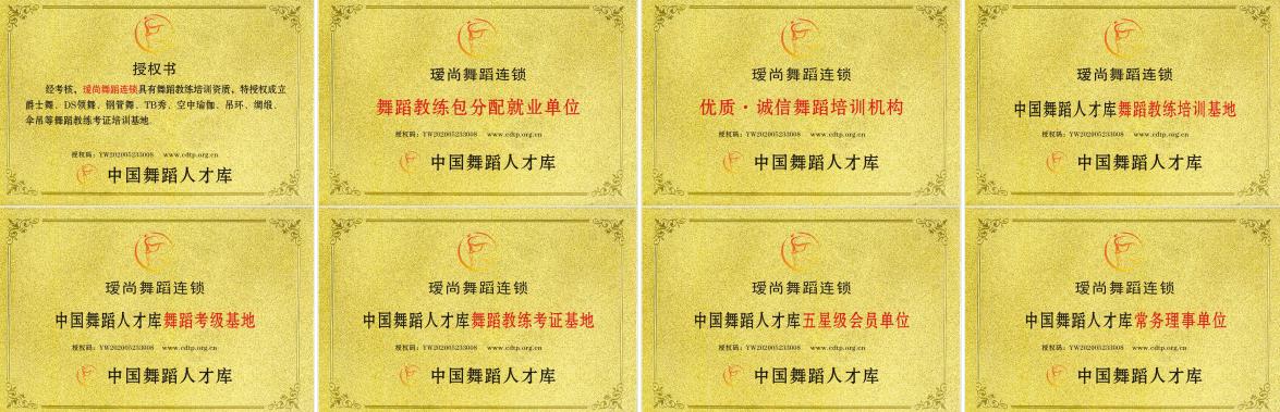 瑷尚舞蹈连锁培训机构正式成为中国舞蹈人才库舞蹈教练考证基地