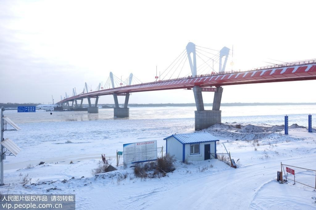 中俄界江黑龙江公路大桥工程全部完工