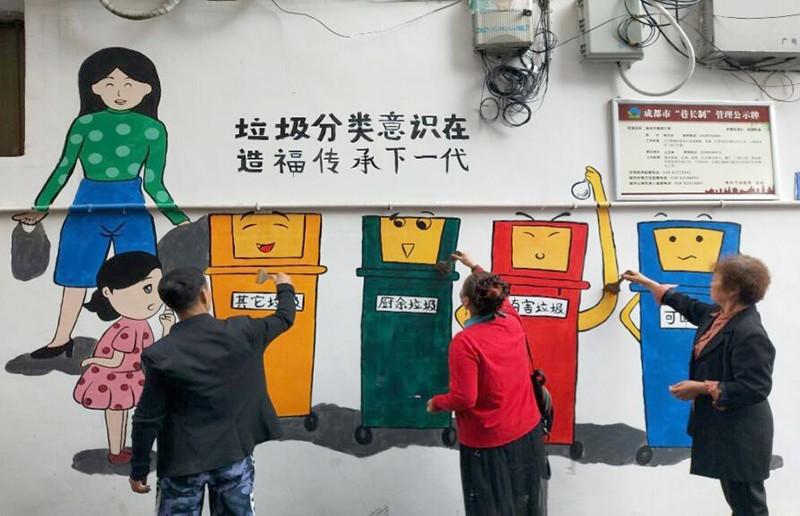 """""""环保文化""""绘上墙,你我共创文明"""